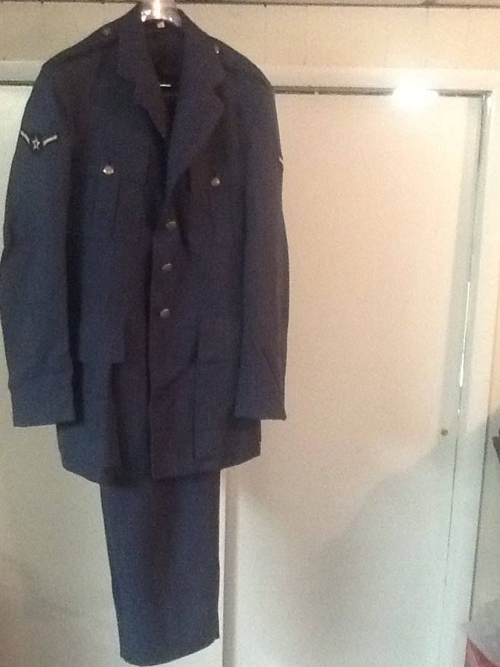Vintage Military US Air Force Blue Uniform Jacket & Pants Circa 1950's by kathysvintagevillage on Etsy
