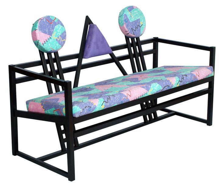 Mid century modern bench sofa in the manner of Gerrit Rietveld