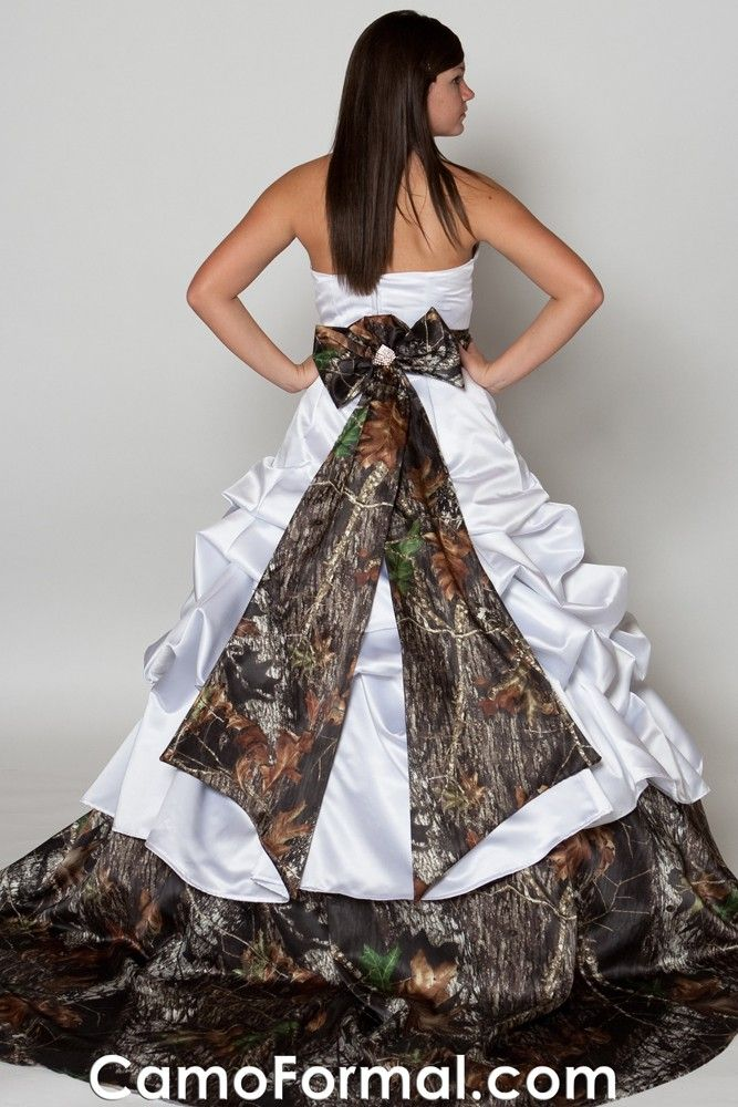 193 best images about kaitlyns prom dress on pinterest for Camo accented wedding dresses