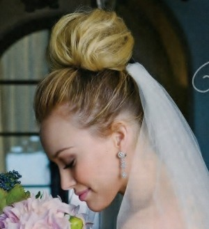 41 best wedding hair images on pinterest hairstyles make up and polished updo such as this look by hilary duff estate weddings and events junglespirit Images