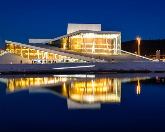Olso Opera House, Norwegian architectural firm Snøhetta