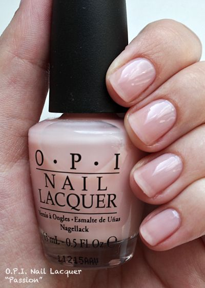 OPI Passion...best pale pink color...its one of my top five colors...and when it chips you can barely tell