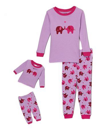 e65525f57 Love this Purple Elephant Pajama Set   Doll Outfit - Toddler   Girls ...
