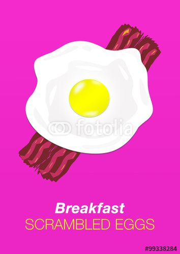 #breakfast, #eggs, #bacon, #scrambledeggs, #illustration