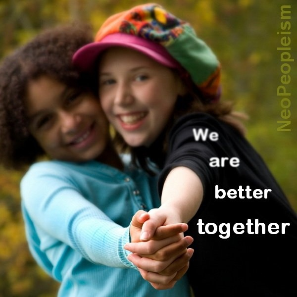 When we share time and community our understanding and hearts grow. We are better together.