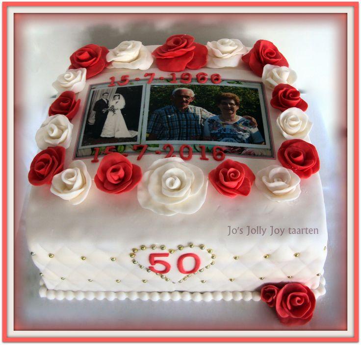 Jo's Jolly Joy taarten; voor een gouden bruiloft gemaakt, en zo'n jubileum is zeker wel en stukje taart waard!!!
