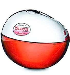 DKNY Red Delicious.  This is a richer, sexier version of the original Be Delicious. From fragrantica: Red Delicious mixes the notes of champagne, lychee, raspberry, apple, rose, amber, musk and vanilla