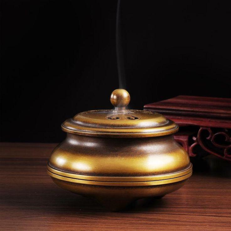 Pure copper powder fragrance boutique incense coil furnace sandalwood incense burner furnace with gaixun sink furnace promotion