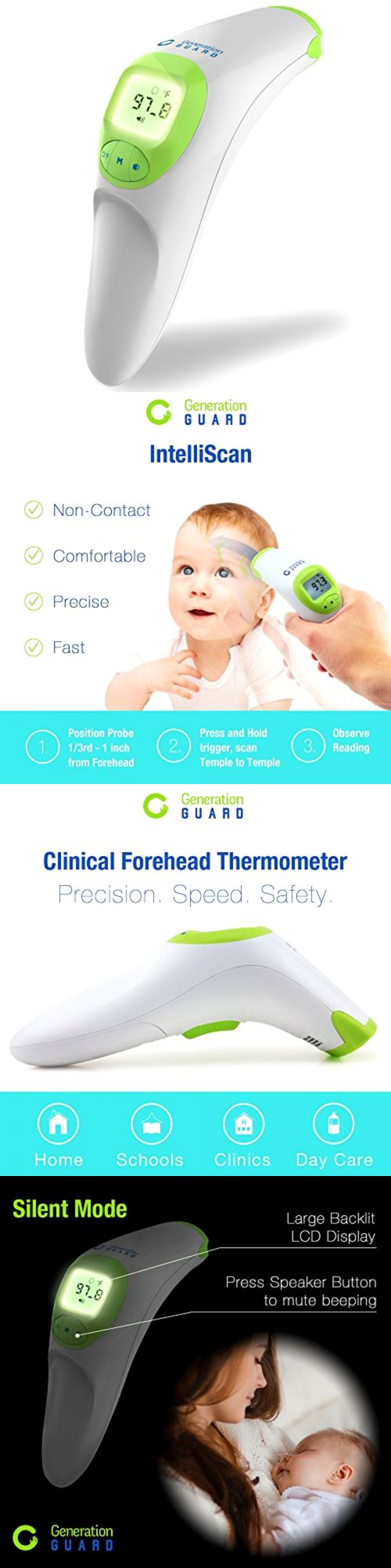 Baby Thermometers 117026: Clinical Forehead Thermometer Fda Approved Instant Read Sensor For Digital Fever -> BUY IT NOW ONLY: $37.41 on eBay!