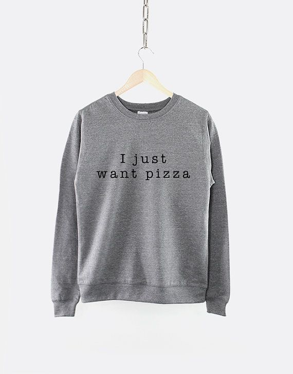 I Just Want Pizza Girls Crew Neck by ResilienceStreetwear on Etsy