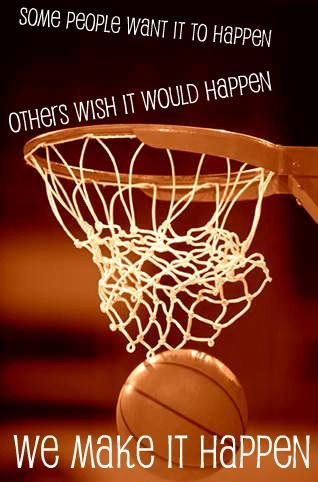 This doesn't just apply for basketball, it can apply to almost anything you can think of