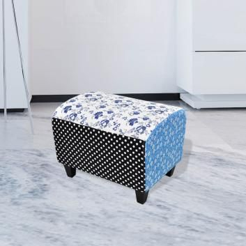 PATCHWORK FOOT STOOL OTTOMAN COUNTRY LIVING VDXLAUOTT540