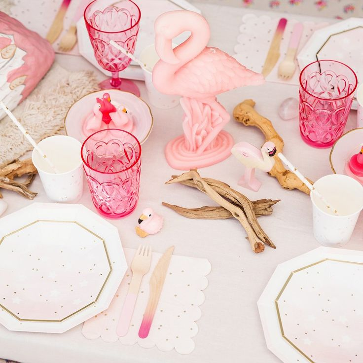 stars plates flamingo party princess party pink and gold party & 27 best flamingo party images on Pinterest | Flamingo party ...