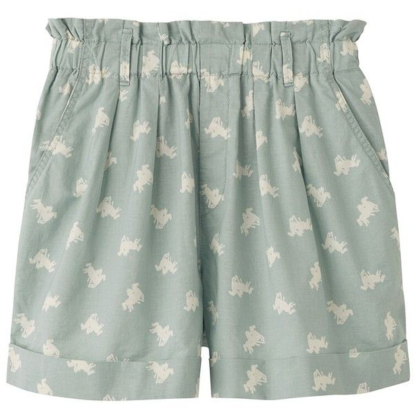 UNIQLO Women Cabbages & Roses Flare Shorts ($20) ❤ liked on Polyvore
