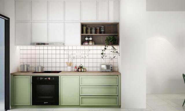 Variasi Kitchen Set Khusus Untuk Dapurmu Yang Mungil Tetap Manis Dan Rapi Meski Lahan Sempit Renovasi Dapur Kecil Dekorasi Dapur Dapur