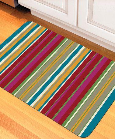 This Garden Stripe Novelty Mat is perfect! #zulilyfinds