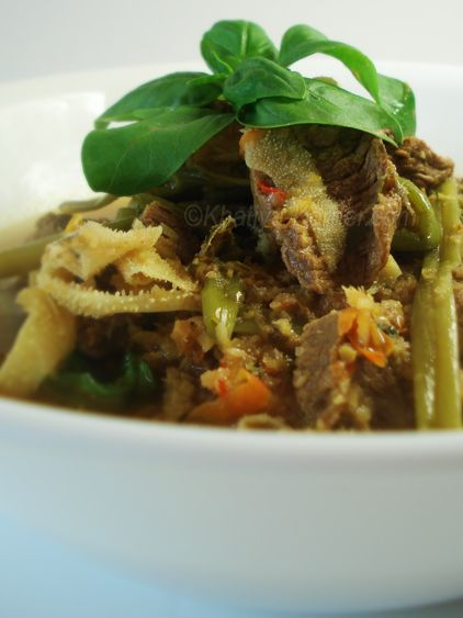 Cambodian Spicy & Sour Beef with Tripe Soup