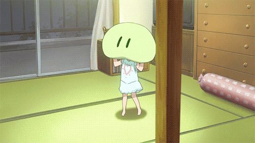 Chibi + pillow = Kawaii (GIF) // ughh I cry this anime is too sad // Clannad<<*SPOILERS* Her death was so sad.