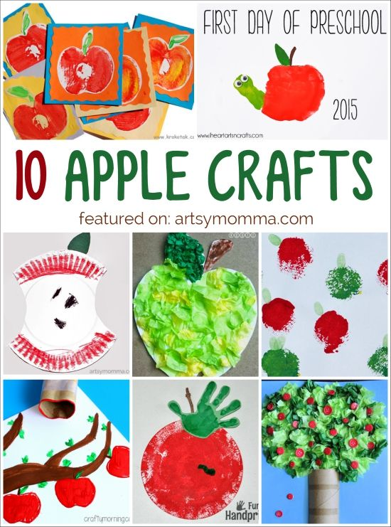 10 Easy Apple Crafts for Kids to make this Fall
