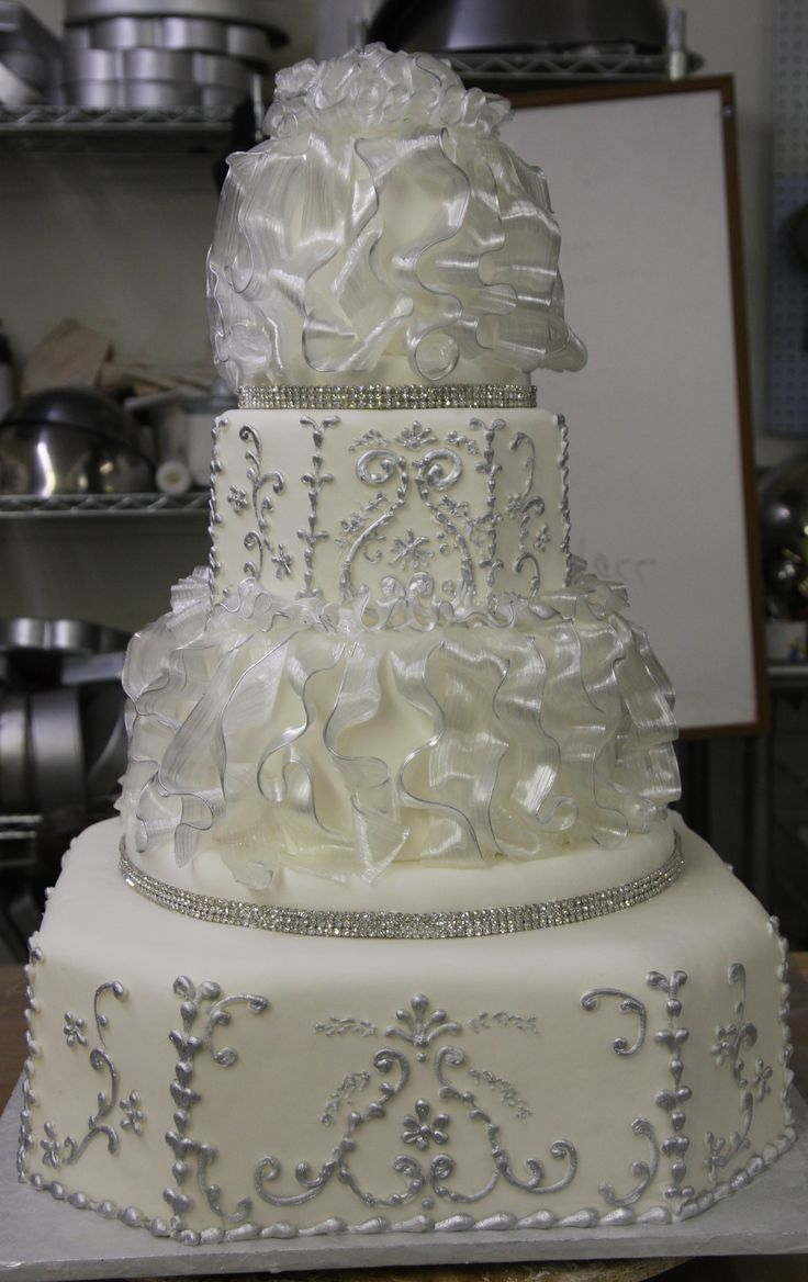 silver wedding cake decorations 63 best images about wedding silver amp gray on 7449