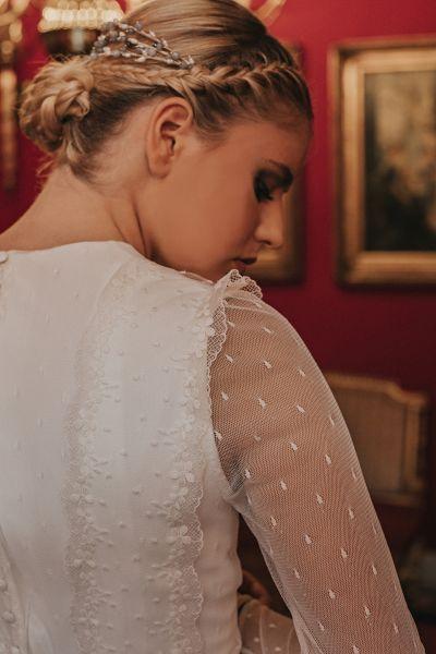 20 vestidos de novia con plumeti 2017 a los que no te podrás resistir. ¡Toma nota! Image: 10