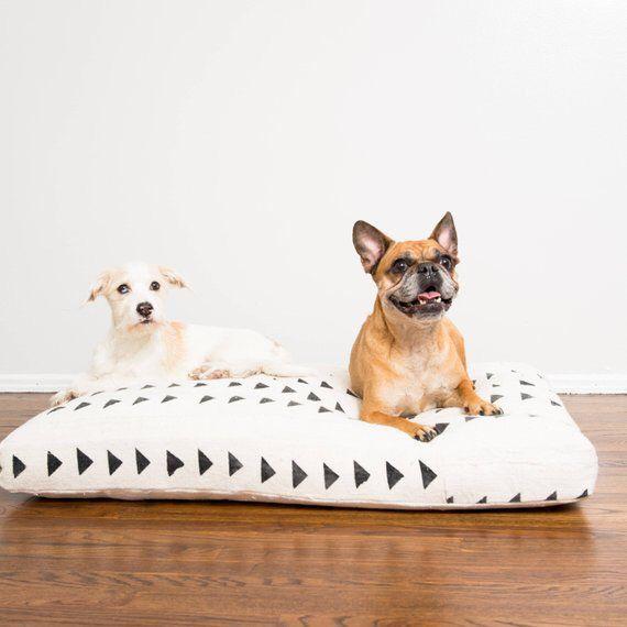 White And Black Mudcloth Dog Bed Medium Dog Bed Large Dog Boarding Near Me Custom Dog Beds