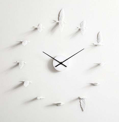 "swallow clock by haoshi design, haoshi Design was established in 2009, named by the Chinese pronunciation ""good things""."