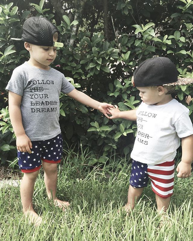 Follow your dreams baby and kids graphic tee - Little Beans Clothing. Hipster baby, baby boy fashion, kids clothes, boy graphic shirt, matching brothers outfits, patriotic outfit, boys fourth of july fashion