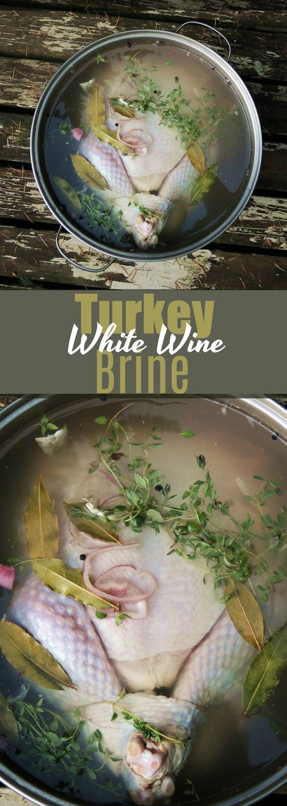 White Wine Turkey Brine - With white wine, spices, herbs, and citrus, this is seriously the BEST brine for your holiday turkey. From www.bobbiskozykitchen.com #wine #thanksgiving #christmas #turkey