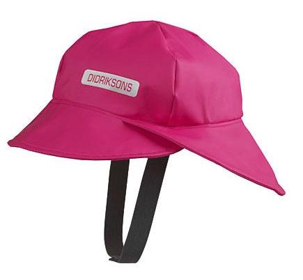 Children's waterproof cap, available in pink or navy.