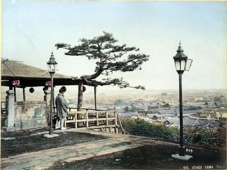 Ueno Hikoma, Veduta di Tokyo dal Colle di Atago, 1870 ca. © 2013 Città di Lugano - Museo delle Culture - Collezione «Ada Ceschin Pilone» - Fagioli