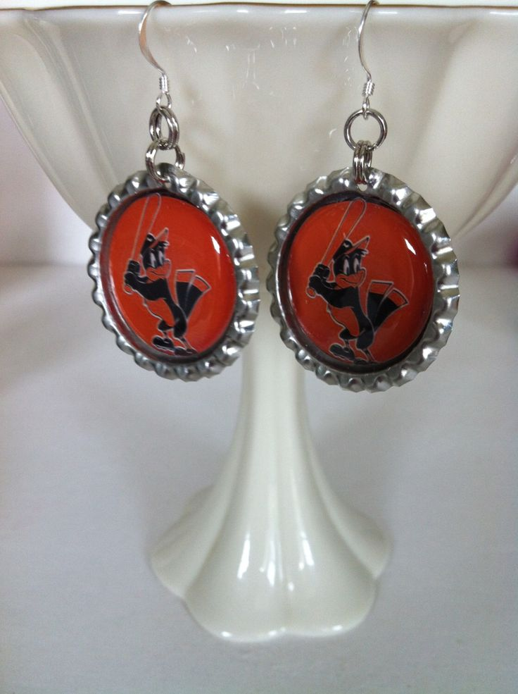 Baltimore Orioles baseball earrings from my Etsy shop https://www.etsy.com/listing/180543681/orioles-bird-earrings-baltimore-orioles