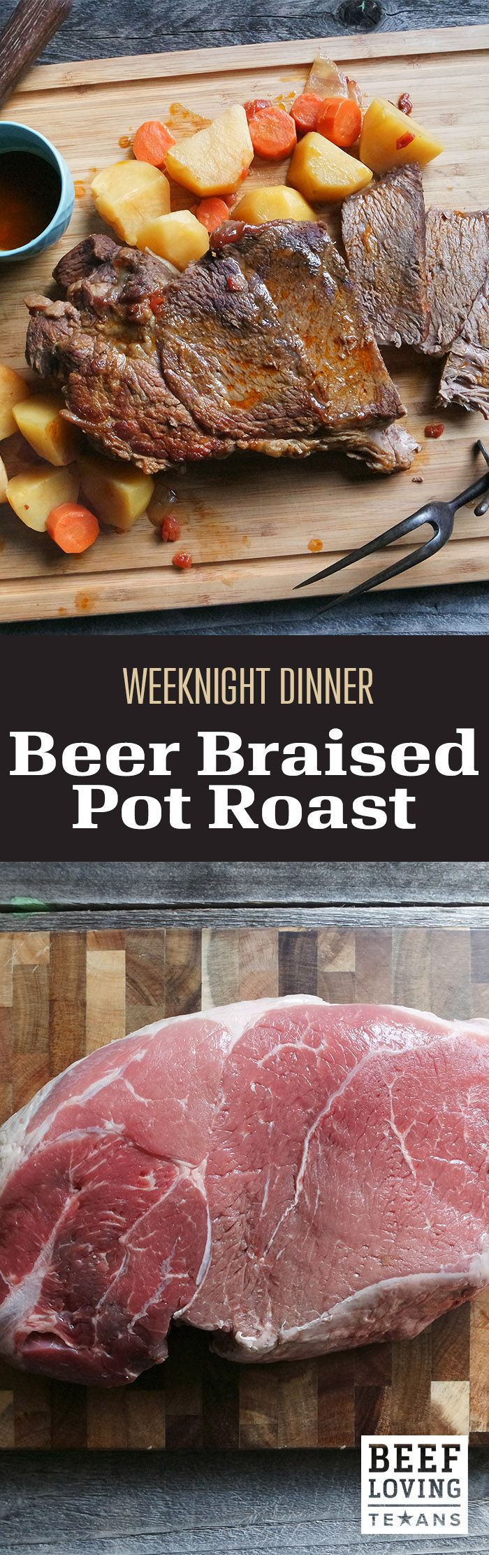 Count on this recipe to bring all the right Texan flavors together. This Beer Braised Pot Roast is easy & the perfect weeknight dinner.