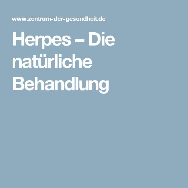 Herpes – Die natürliche Behandlung