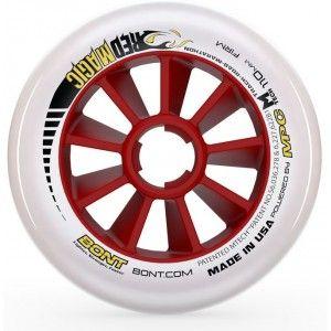 Bont Red Magic Inline Speed Wheels Firm