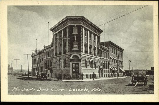 The famous Flatiron building in Lacombe, Alberta. #Lacombe Red Deer & Area History