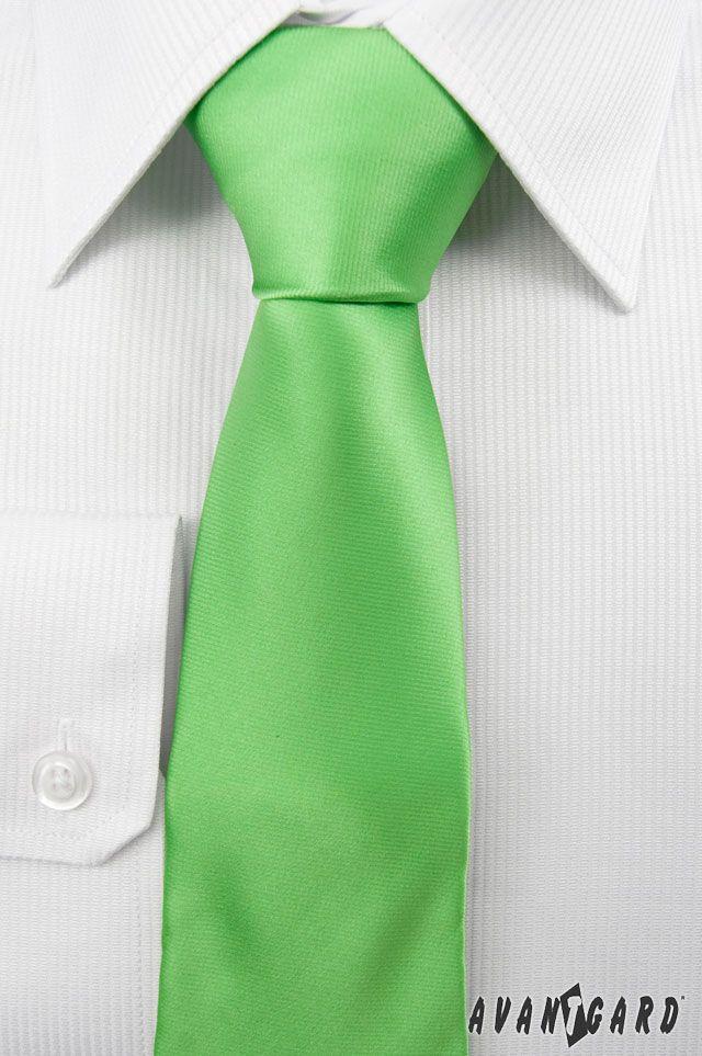 Zelená kravata Avantgard. Duhové kravaty značky Avantgard / Rainbow inspiration,  colours, Avantgard, ties, mens accessories, mens fashion, tie, green