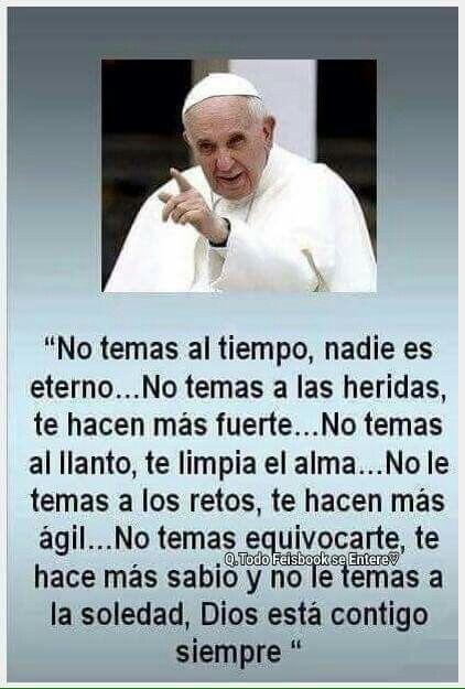 Que buenas palabras del Papa. Setiembre 25, 2015.