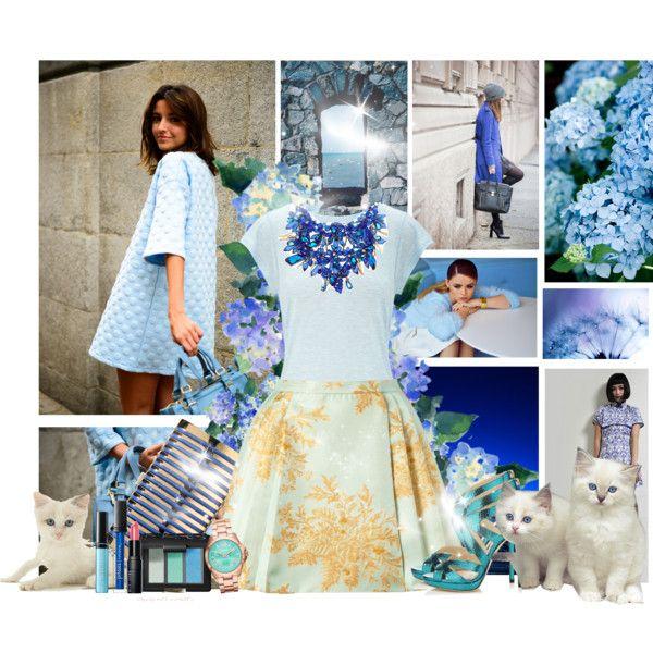 Zimmermann light blue valiant brocade dress images