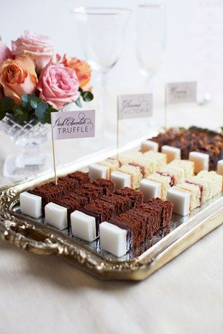 LZ,  delicious bites served at   a tea party...