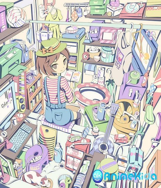 The house of your average otaku.