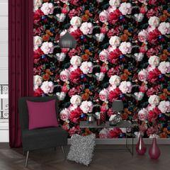 Laissez-vous séduire par ce somptueux intissé DUTCH FLOWERS.   Ce trompe-l'oeil saisissant orne vos murs d'une profusion de magnifiques fleurs. Les couleurs vives et chaudes telles que le rouge et le orange sont tempérées par un rose pastel, un blanc pur et un noir intense dans un clair-obscur très sophistiqué. Le rendu est majestueux, empreint de merveille, et offre une décoration des plus élégantes et luxueuses.  Inspiré d'une huile sur toile du célèbre maître néerlandais Jan Davidz de…