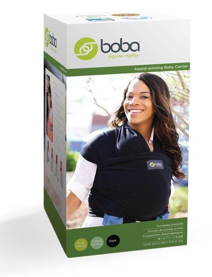 29 95 Boba Baby Wrap Black 0 18 Months 7 35 Pounds Bw1 002