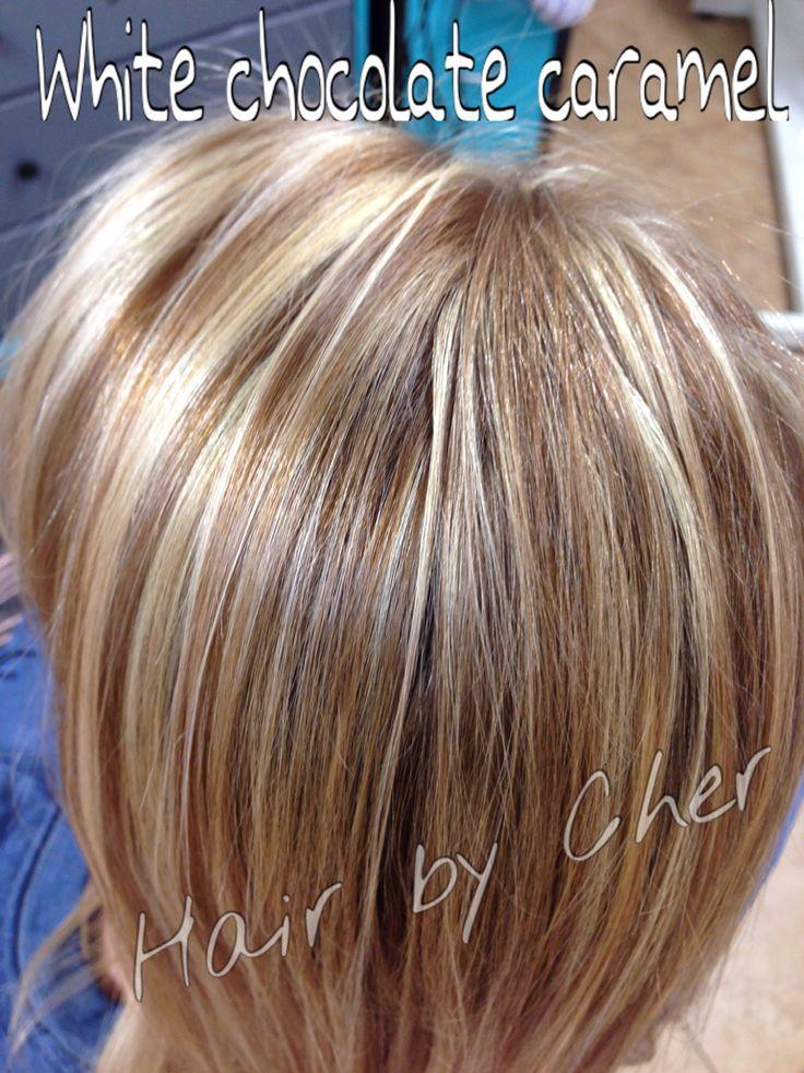 White blonde caramel highlights!