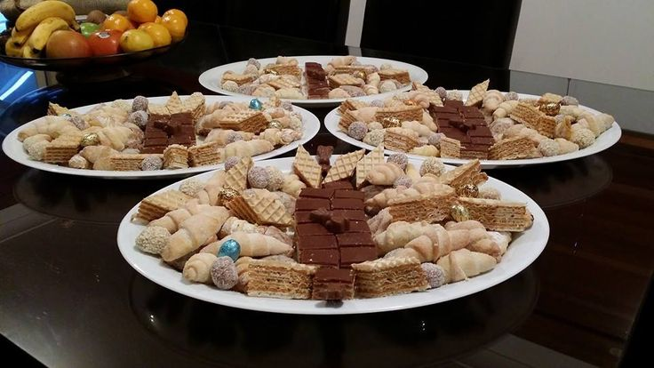 A mix of cakes made from Croatian recipes.