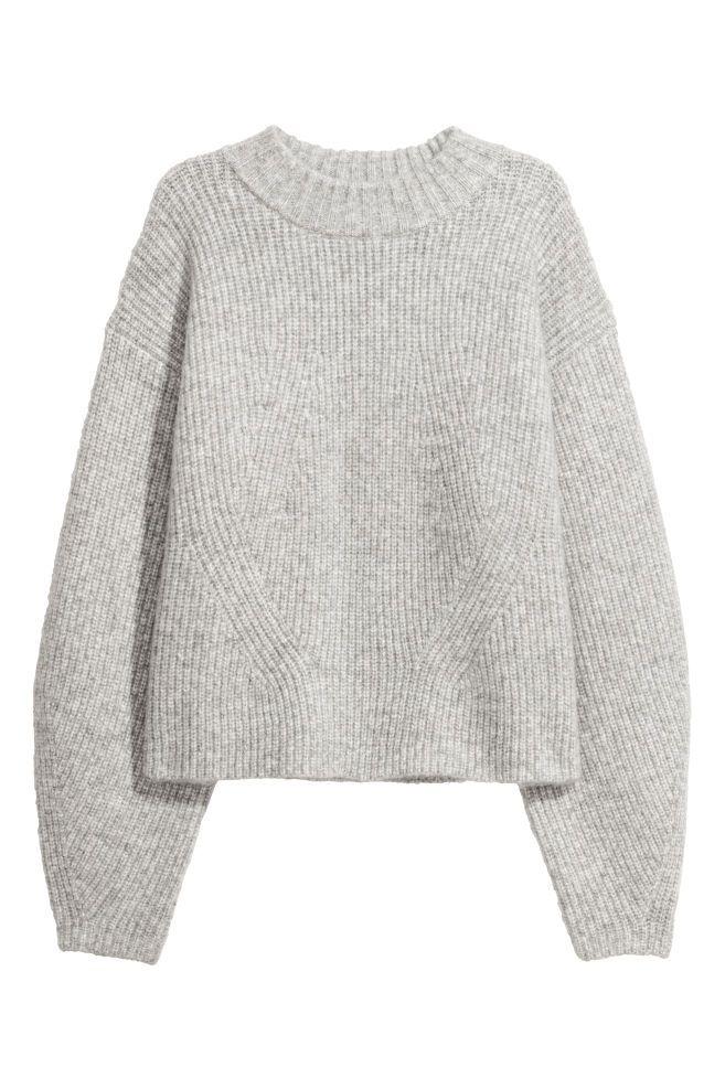 Knitted jumper - Light grey marl -  4f0e74de9