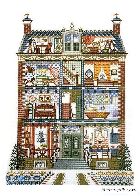 Cross stitch home