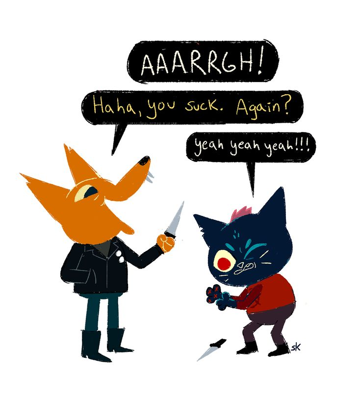 I am loving Night in the Woods so far! What killer characters and atmosphere. (the knife fight was definitely the kind of thing I wanted to try and chickened out of as a kid)