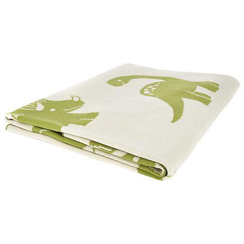 John Lewis Dino Baby Pram Blanket, £25