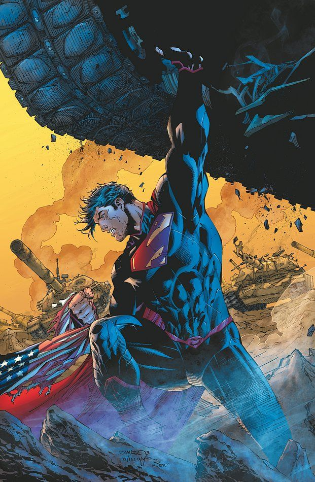SUPERMAN UNCHAINED #2//Covers and Splashes/Jim Lee/ Comic Art Community GALLERY OF COMIC ART